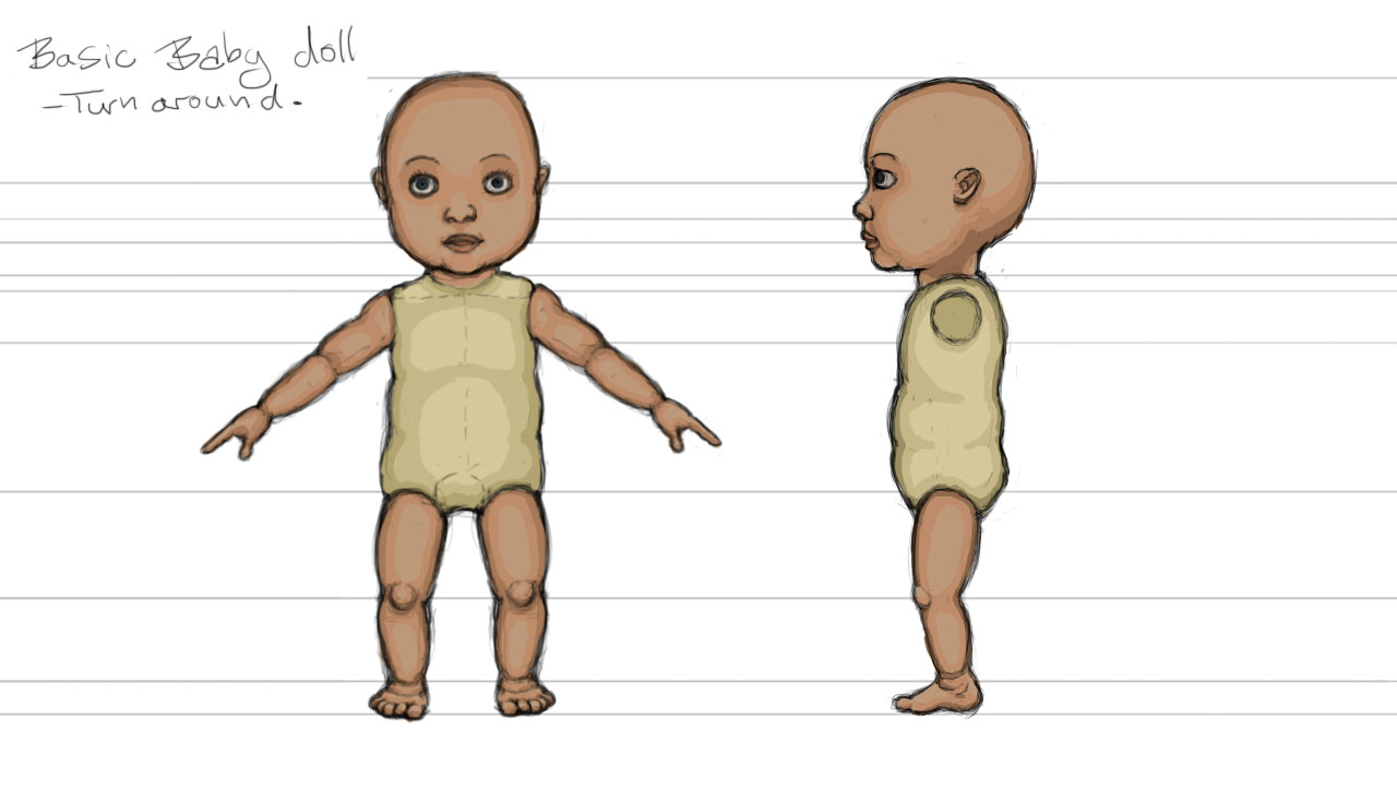 Modelling Sketch: Doll Turnaround