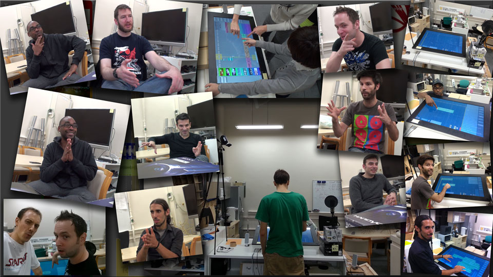 A commemorative collage of many of the participants who helped test the DJ interface during its early development.